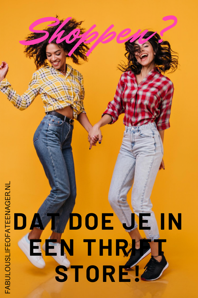 Shoppen in een thrift store